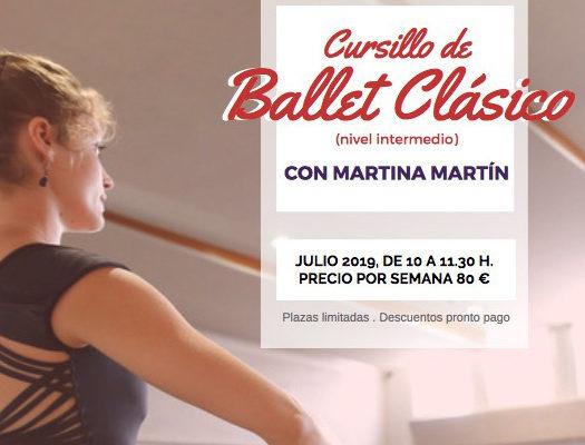 Cursillo de ballet clásico, nivel intermedio