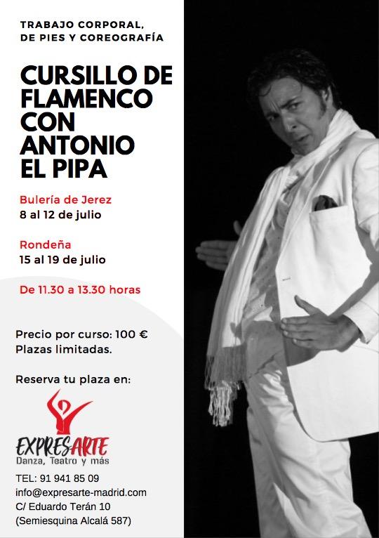 curso de flamenco con El Pipa