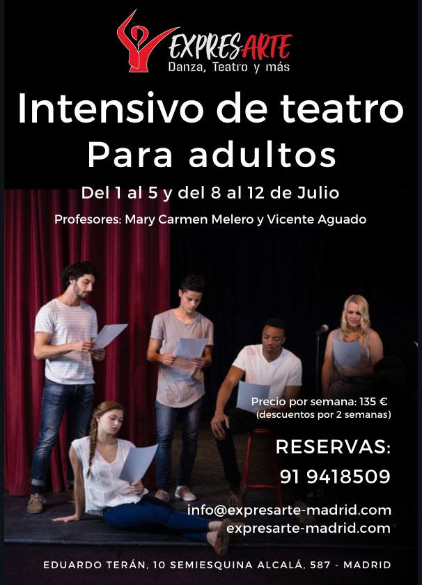Clases de teatro en el mes de julio