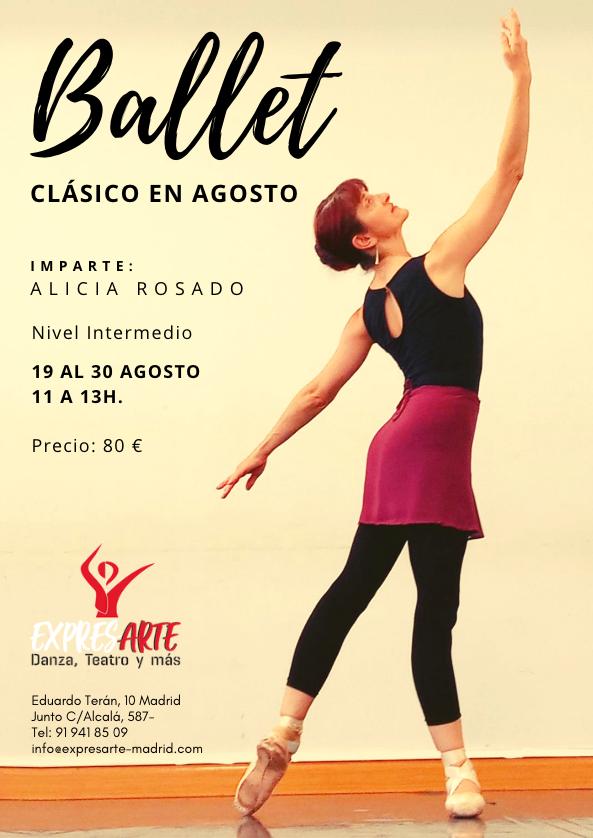 Curso de ballet en agosto