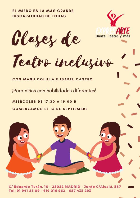 Teatro inclusivo para niños en Madrid