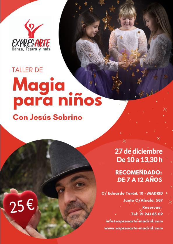 Taller de magia para niños en Naviidad en ExpresArte Madrid