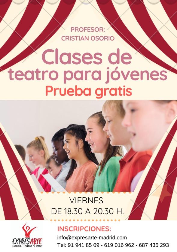 clases de teatro para jóvenes