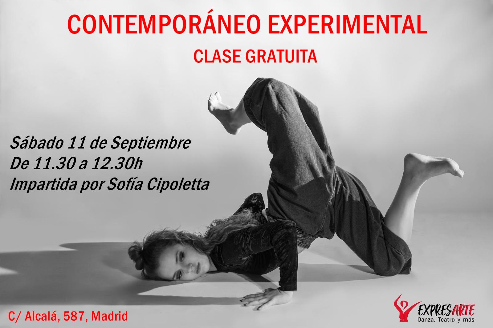 Clases de baile contemporáneo experimental